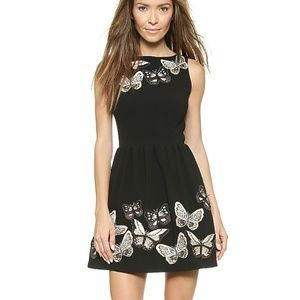Alice Olivia Lillyanne Butterfly Embroidered Dress